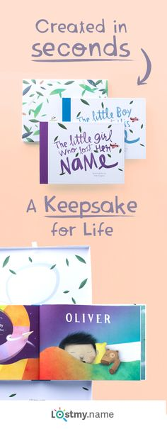 Call off the search for magical new baby keepsakes! Lost My Name is a special personalized storybook based on the letters of a little person's name. You can make it in moments and it's delivered anywhere in the world for free.