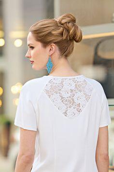 Блузка с рукавами реглан - выкройка № 34 из журнала 7/2015 Diana Moden – выкройки блузок на Burdastyle.ru