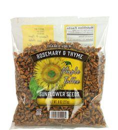 Trader Joe's Rosemary & Thyme Maple Toffee Sunflower Seeds 227g $1.99 トレーダージョーズ ローズマリー&タイム メープルトフィ サンフラワーシード こちらを使ったレシピはこちら http://traderjoesgohan.com/roasted-butternut-squash/