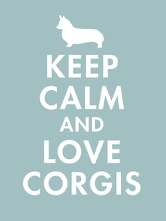 Keep Calm and Love Corgis Business Cards by Admin_CP2510272