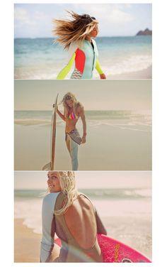 Surfing beauty