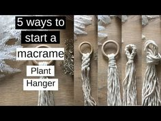 Excellent Pics Macrame Knots plant hanger Suggestions ✂️ 5 Ways To Start A Macrame Plant Hanger Macrame Plant Hanger Patterns, Macrame Plant Holder, Macrame Patterns, Macrame Design, Macrame Art, Macrame Projects, Garden Projects, Garden Ideas, Sewing Projects