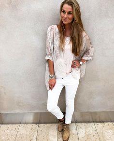 WHITE outfit + BEIGE Big Bang LooOOve!  #swedish #beautiful #girl