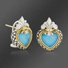 AC Heart Shaped Turquoise Earrings