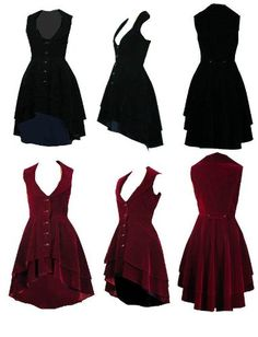 Amazon.com: Luscious Velvet Tailored Flared Victorian Steampunk Gothic Dress, Frock-Coat Or Waistcoat Sizes 6-28: Clothing