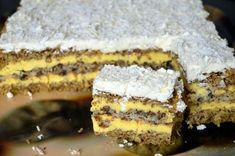 Prajitura Victoria | MiremircMiremirc | ... bucataria in imagini Romanian Desserts, Pasta, Cream Cake, Desert Recipes, Easy Desserts, Cake Recipes, Bakery, Sweet Treats, Goodies