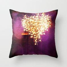 violet heart Throw Pillow