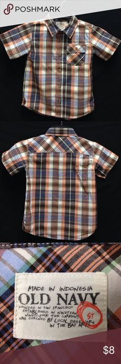 Old Navy Boy's Plaid Shirt This shirt is in excellent condition. There are no rips stains or tears. Old Navy Shirts & Tops Button Down Shirts