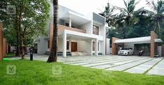 Contemporary Architecture, Modern Contemporary, Kerala House Design, Kerala Houses, God's Grace, Modern Houses, House Plans, Sweet Home, Exterior
