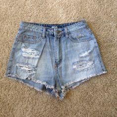 Urban Outfitters (BDG) high waisted shorts Super cute BDG high waisted shorts from Urban Outfitters with rip detailing! Worn only once! Urban Outfitters Shorts Jean Shorts