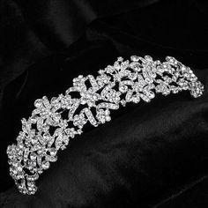 bride tiaras and crowns wedding head jewelry Princess Wedding Tiara Bride Hair…