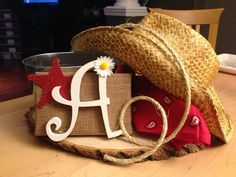 pinterest western theme party | Western Party Centerpiece, Front
