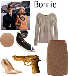 Simple DIY Halloween Costumes - Bonnie and Clyde