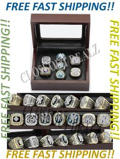 1977 1978 1996 1998 1999 2000 2009 New York Yankees Championship Rings - 8pc Set Clo$eout  DealZ  Buy with confidence knowing we stand by our motto  Customer Satisfaction is our #1 priority!   Don't just take our word, please read our feedback and see what our customers have to say about us.  If you want quality products, then buy from us.  Item DescriptionNEW YORK YANKEEDS WORLD SERIES CHAMPIONSHIP RINGS 1977 1978 1996 1998 1999 2000 2009  This is an absolute must have for any and all…