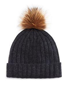 The Men s Store at Bloomingdale s Ribbed Faux Fur Pom Hat  009dae09882c