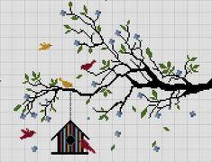 бесплатные схемы Tiny Cross Stitch, Easy Cross Stitch Patterns, Cross Stitch Tree, Simple Cross Stitch, Cross Stitch Alphabet, Cross Stitch Flowers, Cross Stitch Charts, Cross Stitch Designs, Cross Stitching