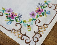 Reserved for M Swedish Cross Stitch Embroidered Doily