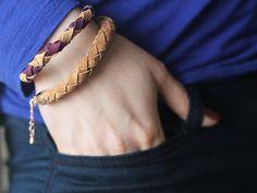 DIY-Anleitung: Rundgeflochtenes Armband aus Kork selber machen  via DaWanda.com