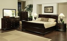 Give your bedroom a stylish and traditional look with this Abbyson Living Espresso Sleigh King Bedroom Set by Kingston. Contemporary Bedroom Furniture, Bedroom Furniture Sets, Modern Bedroom, Furniture Ideas, Living Furniture, House Furniture, Furniture Design, King Size Bedroom Sets, Queen Bedroom
