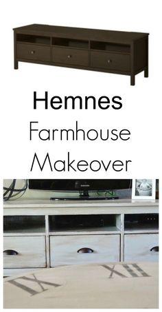 farmhouse hemnes makeover ikea tv stand ikea hemnes tv stand ikea tv. Black Bedroom Furniture Sets. Home Design Ideas