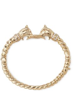 Stella and Dot - Chimera Bangle. Rope bracelet with dual lion heads.
