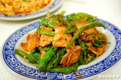 spicy pork belly and shishito pepper stir fry | Taiwanese cuisine