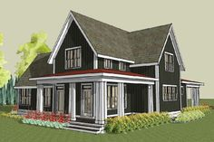 Hudson Farmhouse Plan, Unique Farmhouse Home Design