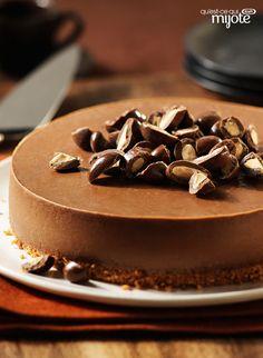 Gâteau au fromage au chocolat et aux amandes #recette