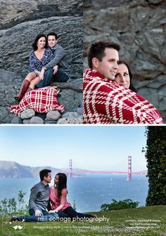 like the bold blanket in these engagements...would be cute if it was a quilt also