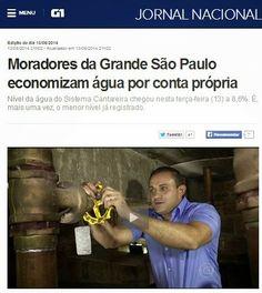 """Jornal Nacional cai no ridículo ao socorrer Alckmin, anunciando racionamento """"voluntário"""" de água"""