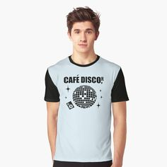'Cafe Disco' Graphic T-Shirt by BossClothingInc My T Shirt, Shirt Designs, Boss, Printed, Awesome, Sleeves, Mens Tops, Art, Products