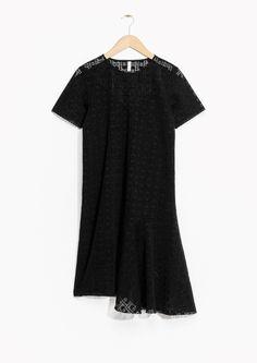& Other Stories   Draped Art Noveau Devoré Dress