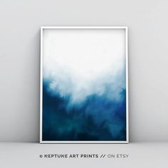 Abstract Watercolor Art, Watercolor Walls, Blue Abstract, Watercolour, Teal Art, Painting Techniques, Painting Inspiration, Wall Art Prints, Contemporary Art