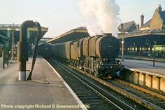 April 1962 Bulleid's No 33034 (below) departing with the Guildford to Dorking passenger Buses And Trains, Old Trains, Vintage Trains, Diesel Locomotive, Steam Locomotive, Southern Trains, Heritage Railway, Abandoned Train, Southern Railways