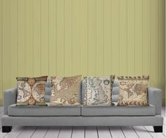 map pillow cover - four- 18 Map, pillow, restore ancient ways, new, household items, art, abstract, $88