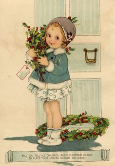 Vintage Christmas Illustration by Margaret Evans Price (1888-1973)