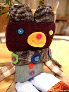 handmade plush using recycled cloths