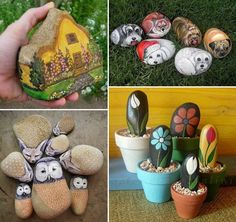 Click LIKE if these ideas change the way you look at rocks!  Why not grab some rocks, paint and a bit of creativity and make some little garden features. on The Owner-Builder Network  http://theownerbuildernetwork.co/wp-content/blogs.dir/1/files/ideas-for-kids-1/540904_433559946723928_56218215_n.jpg