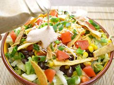 southwest salad with taco ranch dressing