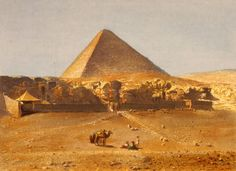 Lerebours, Noël Paymal (1807-1873) - Pyramid of Cheops 1842. #egypt