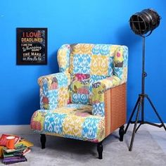 Wing Chairs, Wooden Street, Stylish Chairs, Kochi, Kolkata, Wingback Chair, Armchairs, Mumbai, Wings