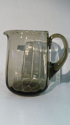 Whitefriars Smoked Glass Jug M10. 1964 Catalogue - Artmosphere Antiques Battlesbridge Essex