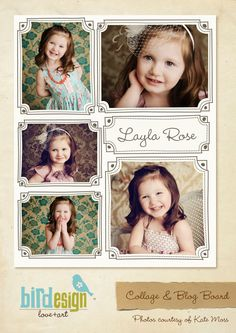Blog Board & 16x20 Collage Template Layla Collage by birdesign