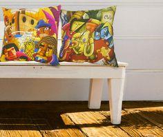 Almofadas ilustradas Alegraziani. Venha para o lado colorida da Força!!!!