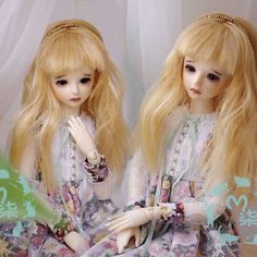 New 3-4  9-10cm Sweet Golden Long Curly Wig For 1/12 BJD OB DK LATI XAGA PULLIP | eBay