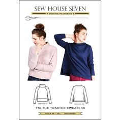 Toaster Sweaters Sew House Seven Sewing Pattern. Size XS-XXL.