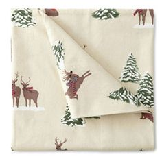 Winter Lodge Reindeer Holiday Printed Flannel Sheet Set Twin Jcp Http://www.