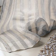 Linen Stripe Window Panel – Pewter #serenaandlily