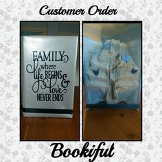 Family tree with quote on the front cover £22