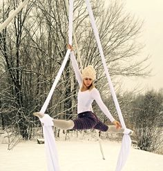 aerial silks snowga winter aerial yoga
